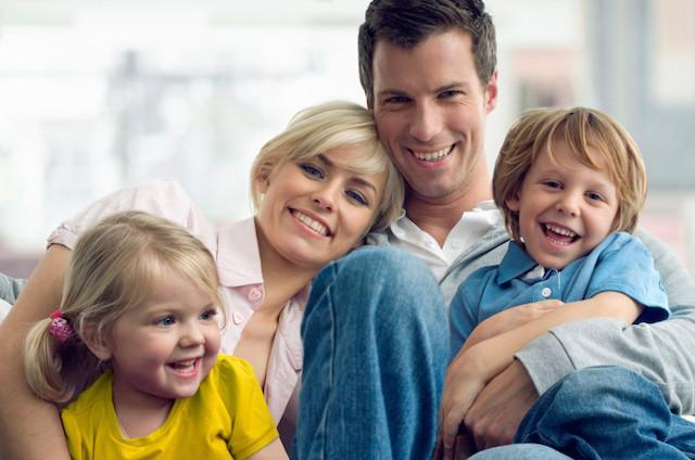 family of four | Preventive dentist glendale ca