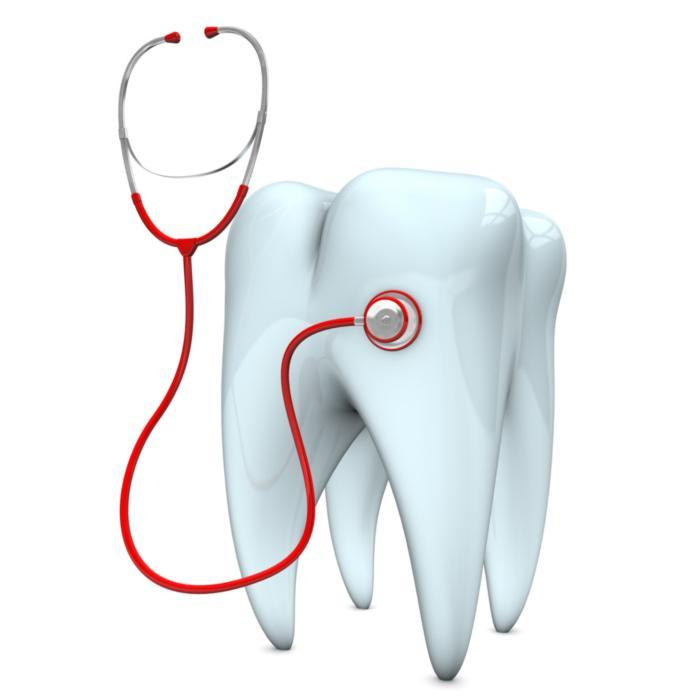 Illustration tooth next to stethoscope | Glendale CA Dentist