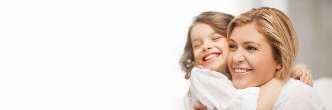 Mother and child smiling | dentist glendale ca
