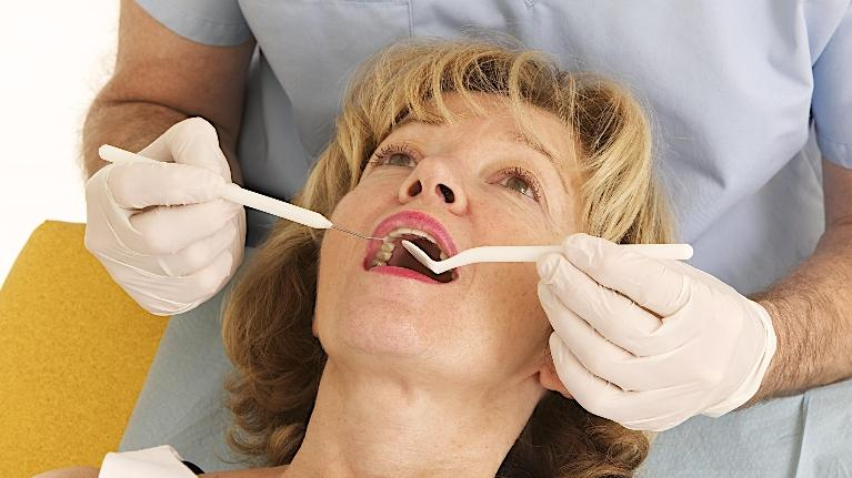 Woman getting dental work done | Glendale CA Dentist
