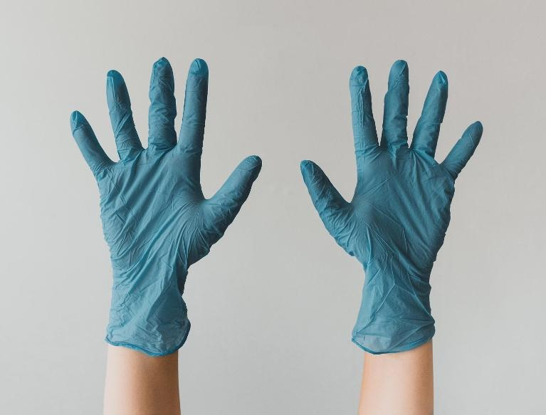 Sanitary gloves at dentist office in Glendale, CA