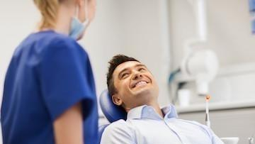 Man in Dental Chair Smiling | Dentist Glendale CA